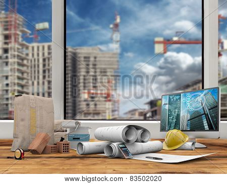 building industry concept