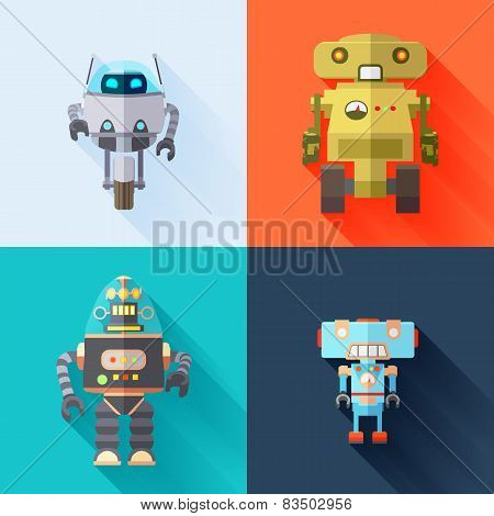 Set of Toy Robots