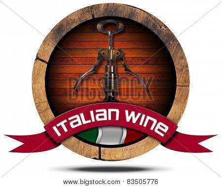 Italian Wine - Wooden Icon