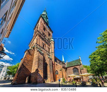 Kunsthallen Nikolaj church in Copenhagen - Denmark poster