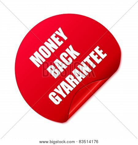 Money back stickerSet of red round stickers. Vector Illustration.