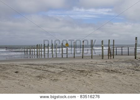 Fenced Off Beach
