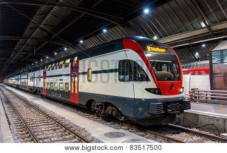 Regional Train To Schaffhausen In Zurich, Switzerland