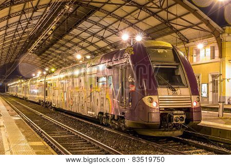 Regional Train Ter 2N Ng At Avignon Station On January 2, 2014