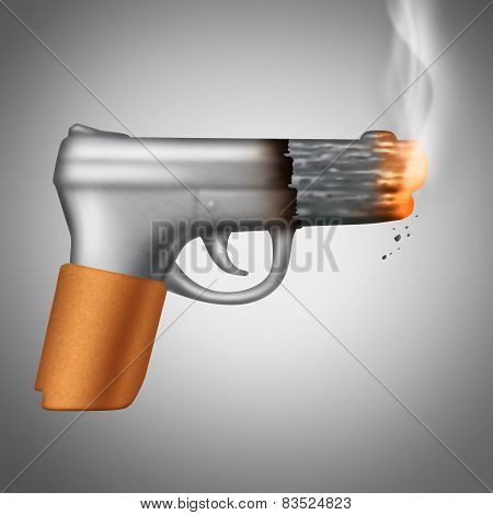 Smoking Cigarette Concept