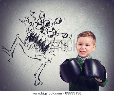 Child faces a virus