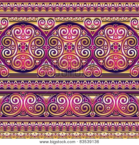 Silk Asian Seamless Ornament