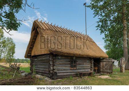 Traditional Sauna in Soera Farm, Hiiumaa, Estonia. The Sauna is a Estonian National Monumemt.