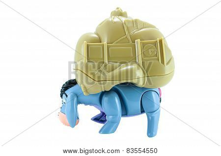 Eeyore Donkey Toy Character From Disney Winnie The Pooh Cartoon.