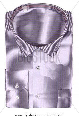 Men's blank folded shirt. Isolated on white background