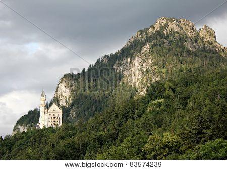 Bad weather over Neuschwanstein Castle
