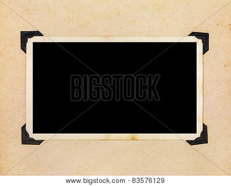 Page Of Vintage Photo Album, With Photo Frames