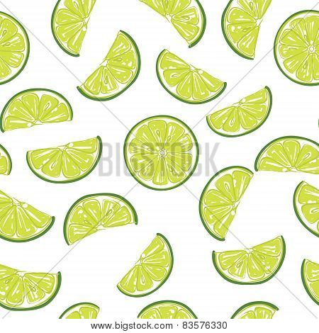 Seamless sliced lime pattern