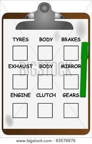 Garage Clipboard