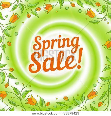 Sale Swirl. Spring Background.