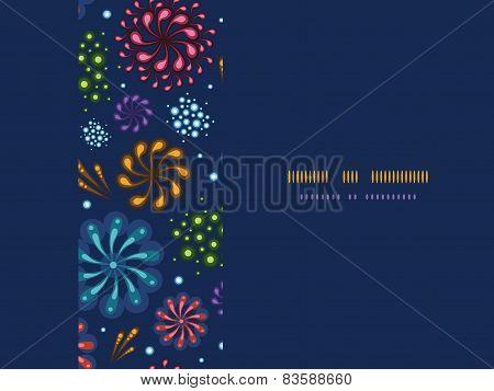 Holiday fireworks frame horizontal seamless pattern background