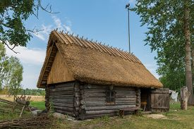Traditional Sauna in Soera Farm, Hiiumaa, Estonia. The Sauna is a Estonian National Monumemt.