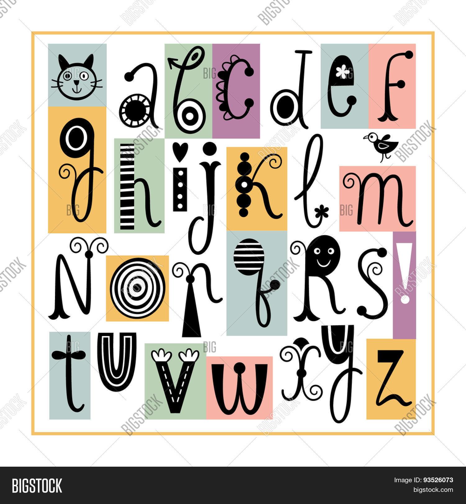 English Alphabet Cute Stylish Letters