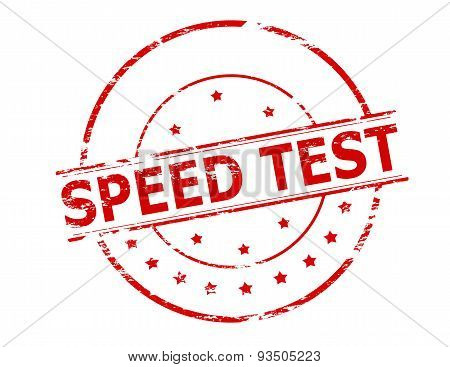 Rubber stamp with text speed test inside vector illustration