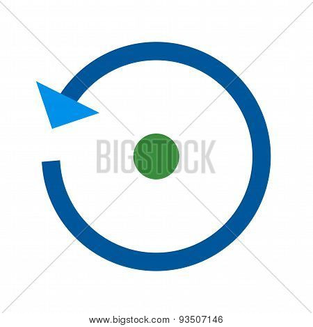 Reset, refresh, arrow icon vector image. Can also be used for mobile apps, phone tab bar and settings. Suitable for use on web apps, mobile apps and print media poster