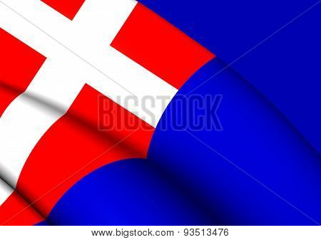 Kingdom of Sardinia 3D Flag Italy. Close Up. poster