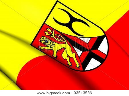 Flag Of Altenkirchen District, Germany.