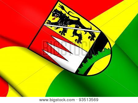 Flag Of Hassberge, Germany.