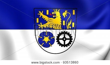 Flag Of The Neunkirchen Kreis, Germany.