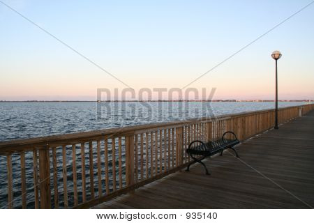 Sunset Over The Fishing Pier