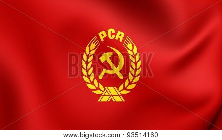 Flag Of The Communist Party Of Romania (pcr)
