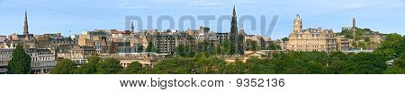 East End Of Princes Street, Edinburgh, Scotland, Panorama