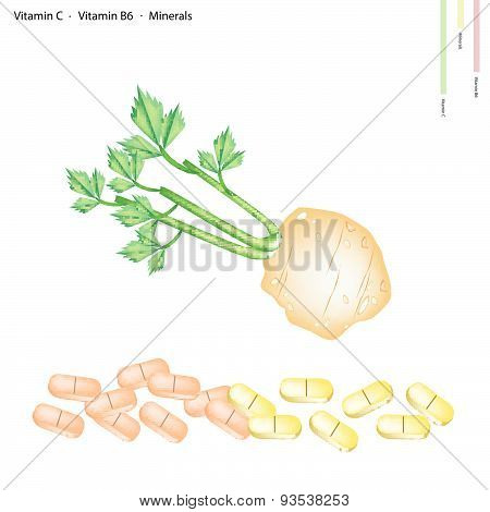 Celery Root With Vitamin C, B6 And Minerals