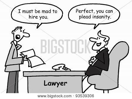 Lawyer cartoon