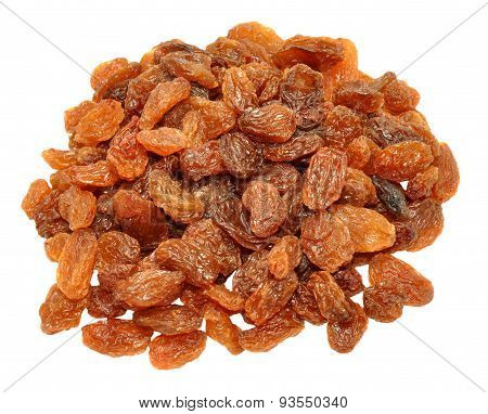 Sultanas Isolated On White