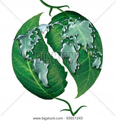 World Leaf Water Drop