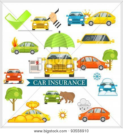Car Insurance vector illustration