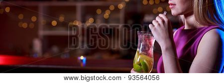 Delicious Cocktail In The Bar