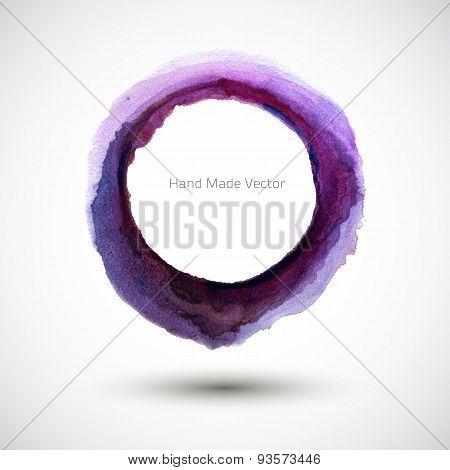 Vector Watercolor Violet Round