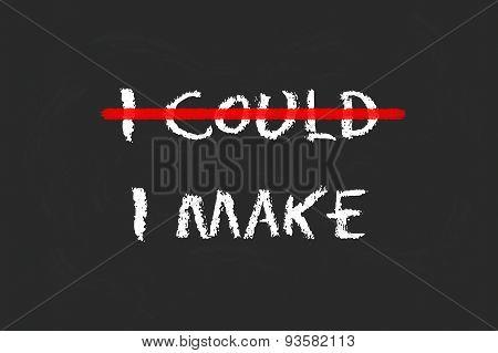 I Make Script On A Blackboard