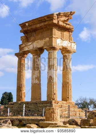 The greek temple of Dioscuri in Agrigento