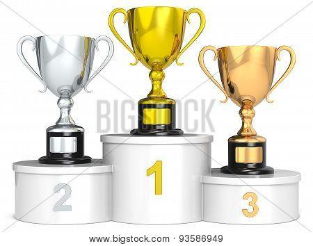 Trophy Podium.