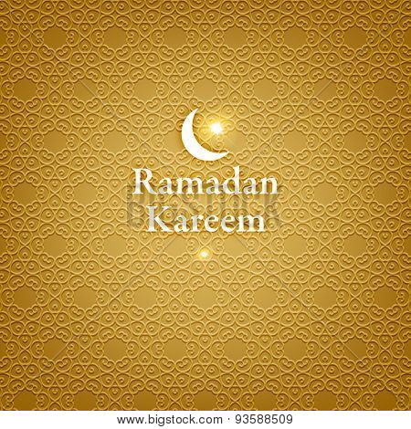 Ramadan Kareem. Ramadan Greeting Card Background. Muslim Pattern. Holiday Design.