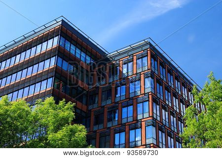 Office Building At Summer Day
