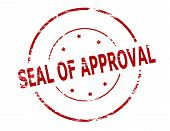 Rubber stamp with text seal of approval inside vector illustration poster
