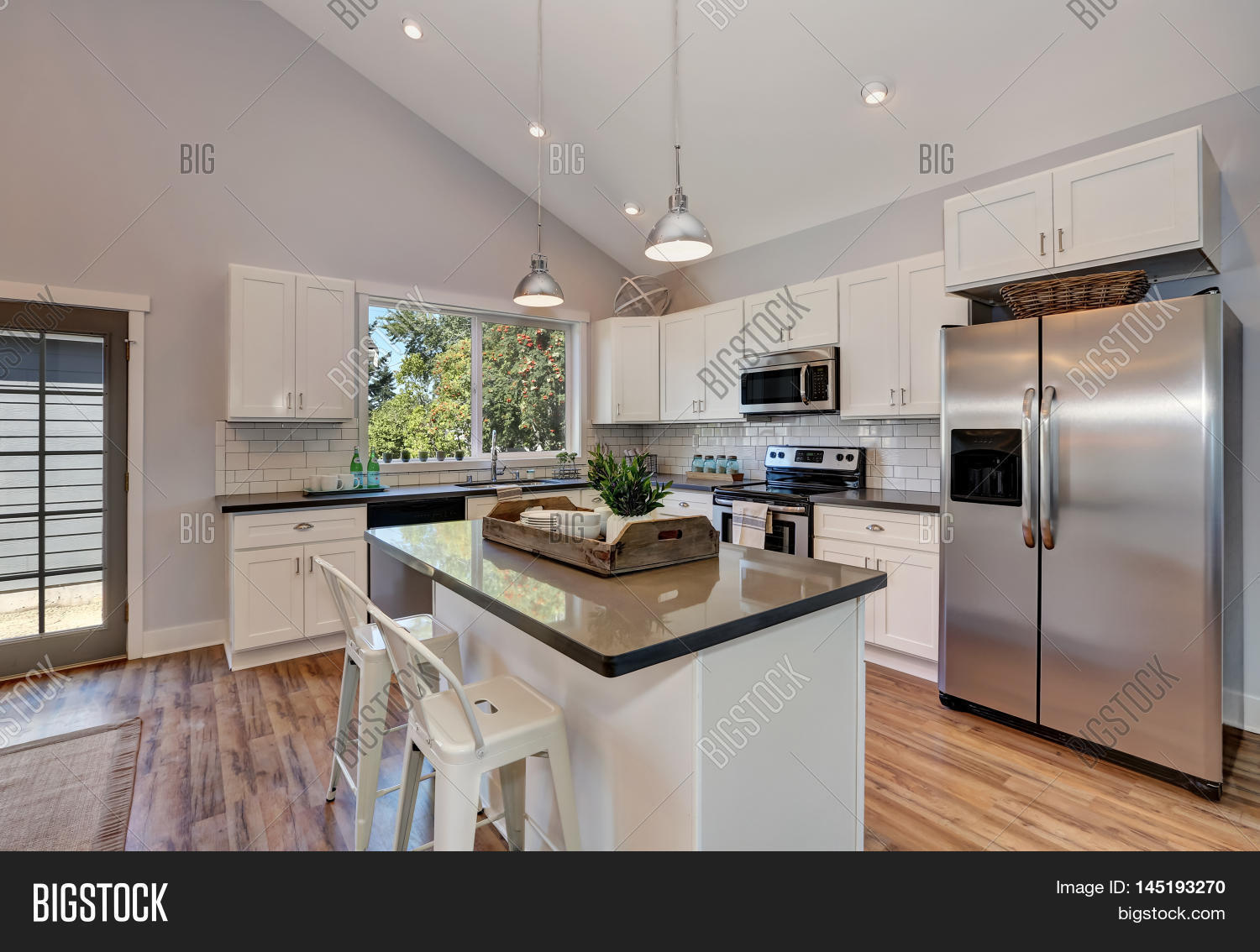 Interior Kitchen Room Image Photo Free Trial Bigstock