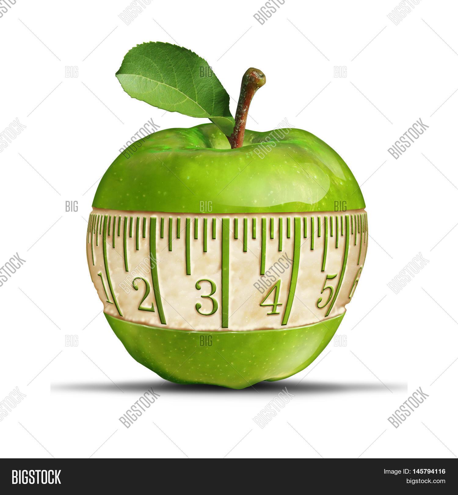 Fitness Green Apple Image Photo Free Trial Bigstock