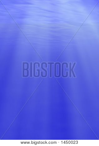 Beams Of The Sun Underwater - Vertical