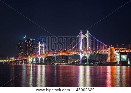 Busan City Skyline, South Korea.