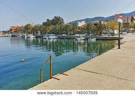 Amazing Panorama with Port of Skala Sotiros, Thassos island, East Macedonia and Thrace, Greece