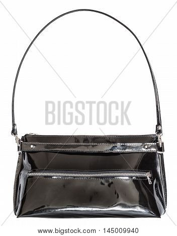 Ladies Handbag From Black Patent Leather
